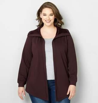 Avenue Open Front Plush Jacket