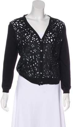 Theory Eyelet Lace Cardigan