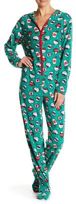 Hello Kitty Holiday Mugs Print Hooded Jumpsuit