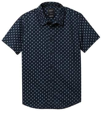 RVCA Mini Paisley Short Sleeve Shirt (Big Boys)