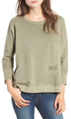 Women's Zadig & Voltaire Ahina Patch Pullover $168 thestylecure.com