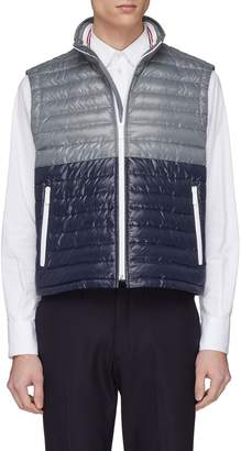 Thom Browne Colourblock down puffer vest