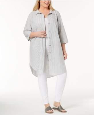 Eileen Fisher Plus Size Organic Cotton Tunic