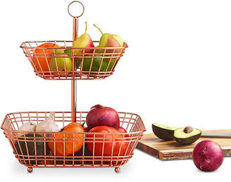 Martha Stewart Collection Copper Tiered Fruit Basket, Created for Macy's