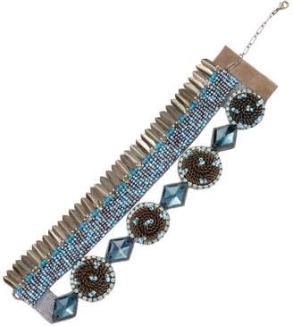 Deepa Gurnani Women's Brass Feather & Beaded Statement Bracelet