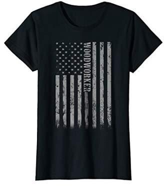 Proud Woodworker American Flag Tees