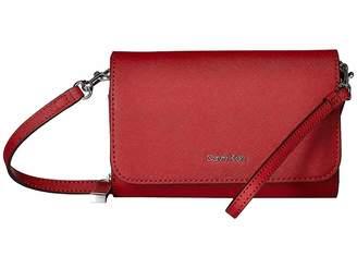 Calvin Klein Saffiano Leather Wristlet/Wallet