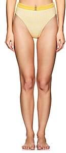 Onia Women's Emily Gingham High-Waist Bikini Bottom - Yellow