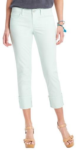 LOFT Modern Straight Cuffed Cropped Jeans
