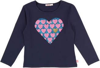 Billieblush Long-Sleeve Sequin Heart Tee, Size 4-8