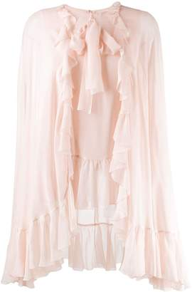 Giambattista Valli ruffled cape blouse