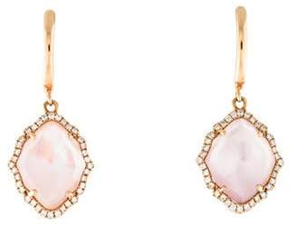 Frederic Sage Mother of Pearl Doublet & Diamond Drop Earrings