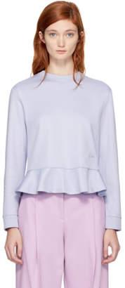 Carven Purple Ruffled Sweatshirt