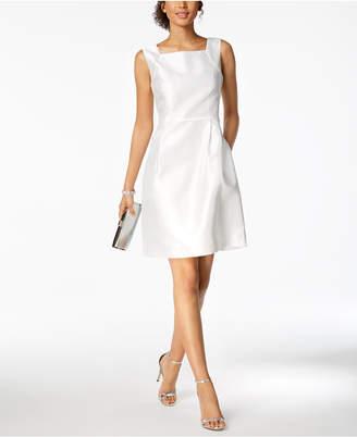 Ellen Tracy Petite Square-Neck Sheath Dress