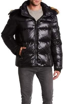 S13 Stowe Faux Fur Trim Down Jacket