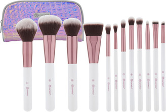 Bh Cosmetics Crystal Quartz - 12 Piece Brush Set with Cosmetic Bag
