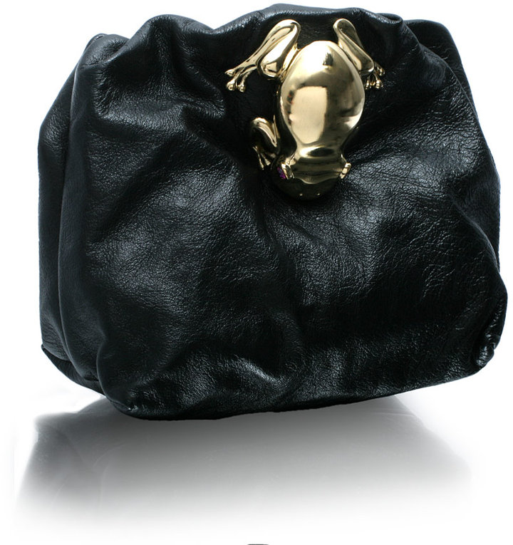 Marc Jacobs Leather Mini Bag With Clasp