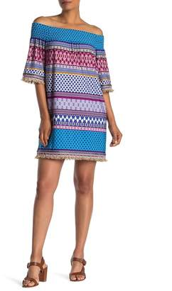 Trina Turk Emilia Off-the-Shoulder Print Dress