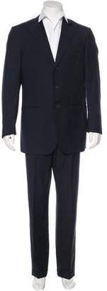 Isaia Striped Wool Suit