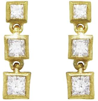 Tate Princess Cut Diamond Square Stud Earrings