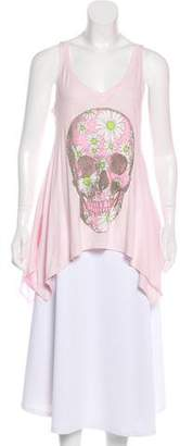Wildfox Couture Printed Sleeveless Top