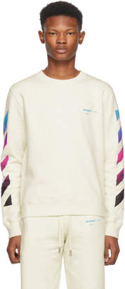 Off-White White Diagonal Gradient Crewneck Sweatshirt