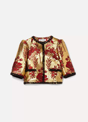 Dolce & Gabbana Ages 8 - 12 Lace-trimmed Brocade Jacket