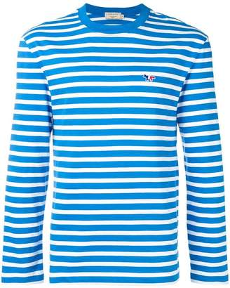 MAISON KITSUNÉ striped crewneck top