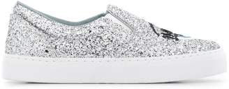 Chiara Ferragni glitter flirting slip-on sneakers