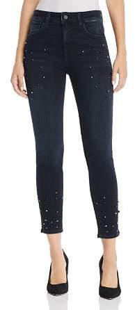 Mavi Tess Embellished Skinny Jeans in Ink Pearl