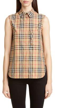 Burberry Palila Check Sleeveless Shirt