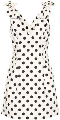 Zimmermann Corsage dotted linen dress