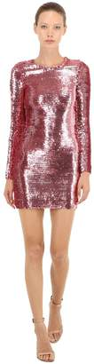 RED Valentino Sequined Stretch Mini Dress