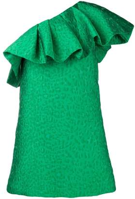 P.A.R.O.S.H. one shoulder ruffle dress