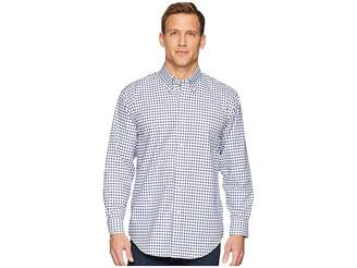 Magna Ready Long Sleeve Magnetically-Infused Check Dress Shirt- Button Down Collar