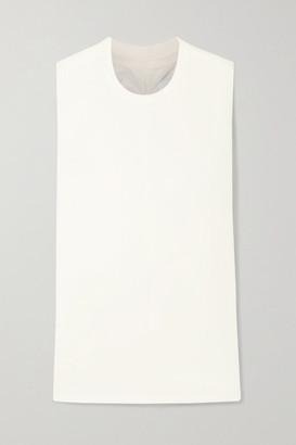 Current/Elliott Ruched Pima Cotton-jersey Tank - Off-white