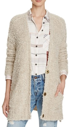 Free People Bouclé Cardigan $128 thestylecure.com