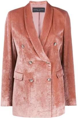 Fabiana Filippi double-breasted velvet jacket