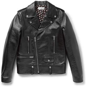 Saint Laurent Full-Grain Leather Biker Jacket