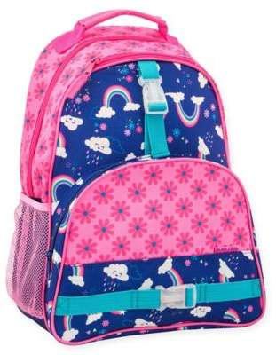 Stephen Joseph Rainbow Print Backpack in Pink