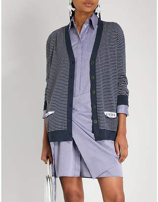 Loewe Striped wool-blend cardigan
