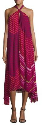 Polo Ralph Lauren Shibori Silk Halter Dress $498 thestylecure.com
