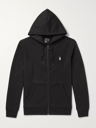 Polo Ralph Lauren Jersey Zip-Up Hoodie - Men - Black