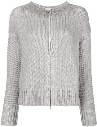 Fabiana Filippi zip ribbed cardigan