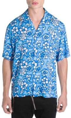DSQUARED2 Main Hawaiian Floral Print Shirt