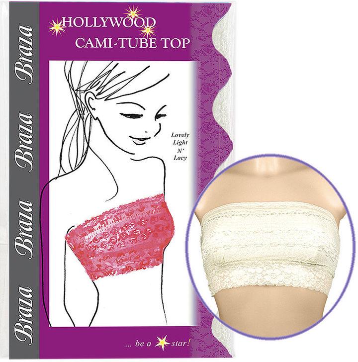 Braza Hollywood Cami-Tube Top, Ivory, Small 1 ea