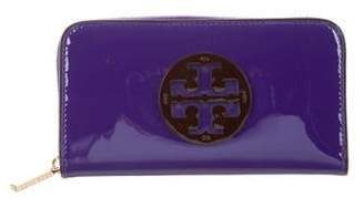 Tory Burch Patent Leather Continental Wallet