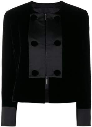 Giorgio Armani contrast panel cropped jacket