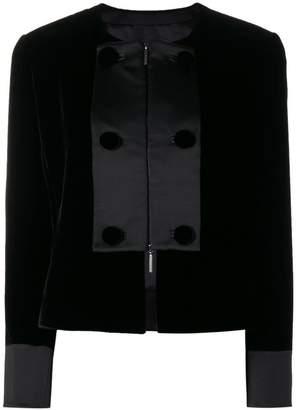 Giorgio Armani contrast panel cropped jacket