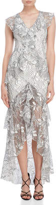 Jay Godfrey The Adrian Ruffle Hi-Low Dress